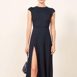 Reformation Gavin Navy Dress